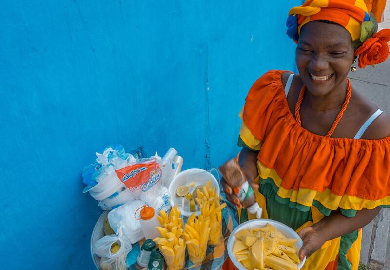 Cartagena de Indias Palenqueras Obstfrauen