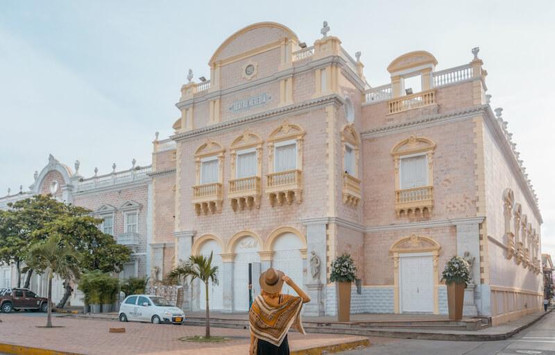 Cartagena de Indias Teatro Heredia Kolonialbauten Kolumbien