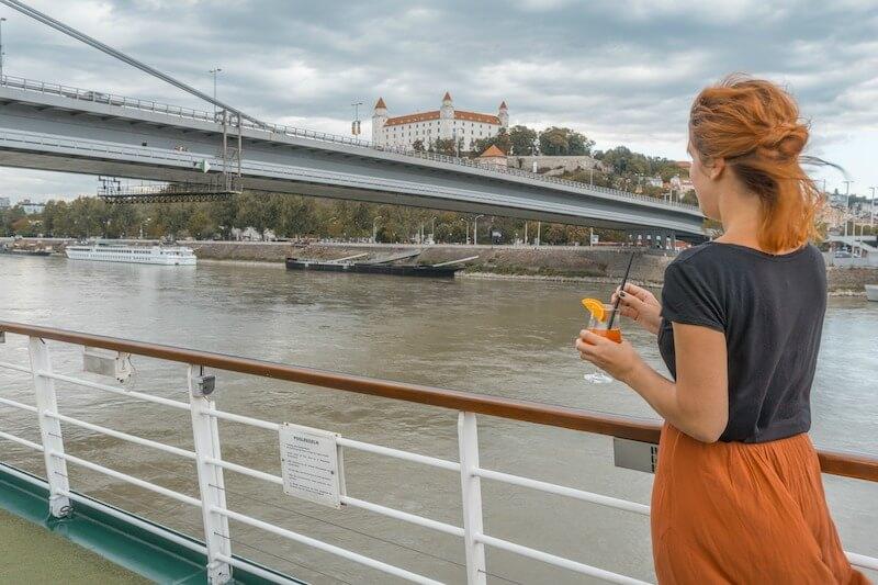 Donau Kreuzfahrt Arosa Bratislava Burg