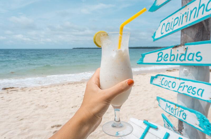 Playa Blanca Limonada de Coco Kolumbien