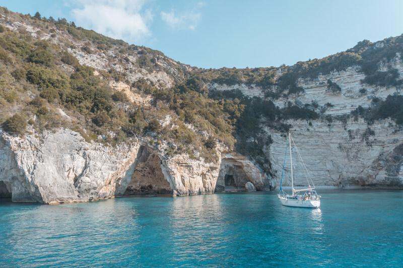 Segeln in Griechenland Ionisches Meer Blaue Grotte Paxos