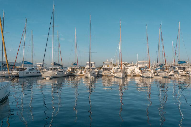 Segeln in Griechenland Ionisches Meer Korfu Gouvia Marina