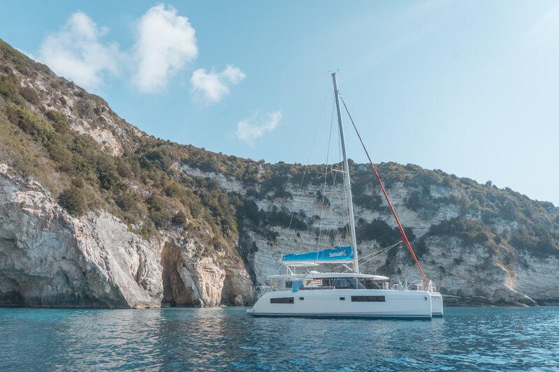Segeln in Griechenland Sunsail Katamaran Korfu