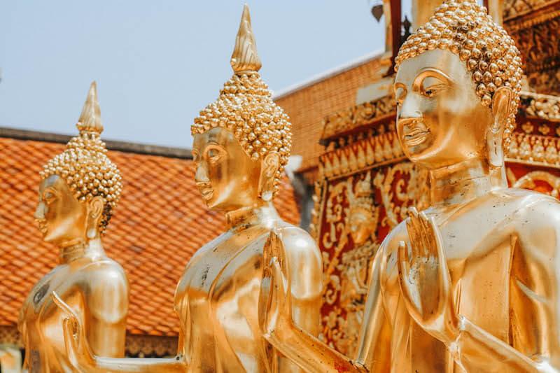 Thailand Urlaub Chiang Mai Wat Phrathat Doi Suthep