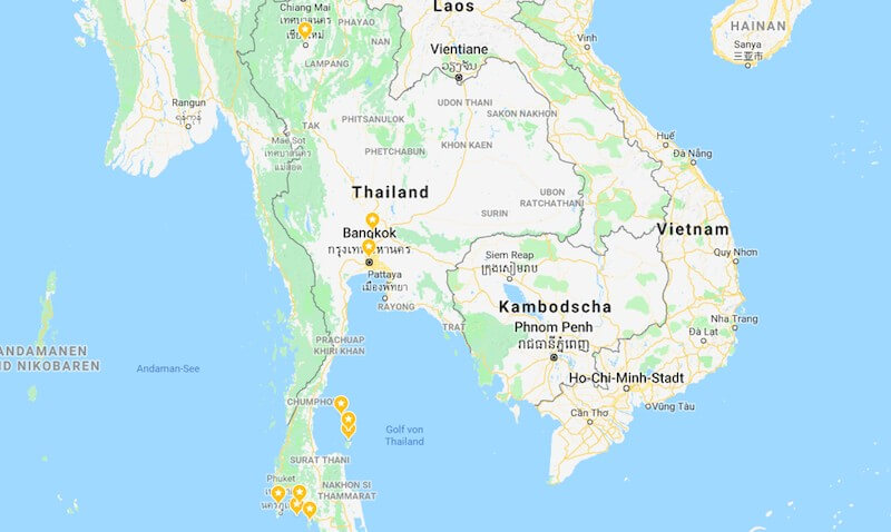 Backpacking 3 wochen thailand Kosten für