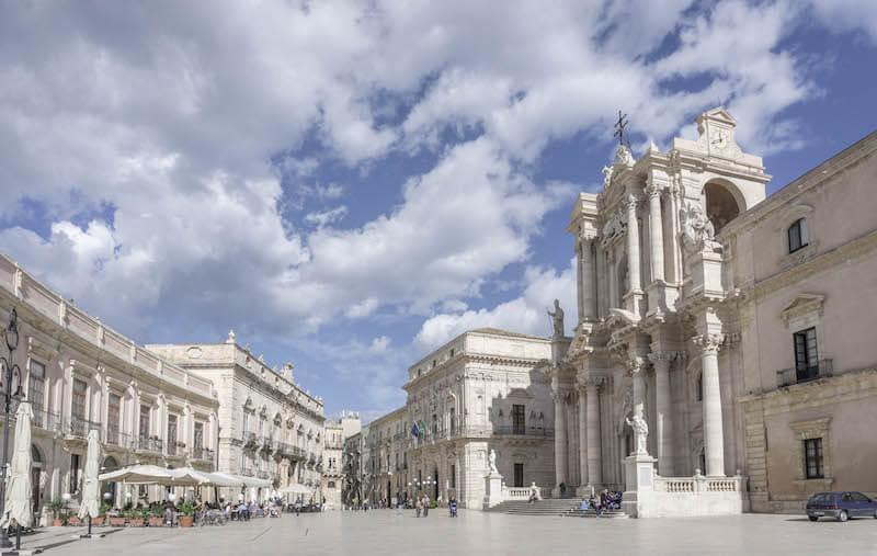 Sizilien Rundreise Syrakus Siracusa Piazza del Duomo