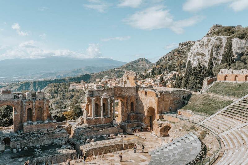 Sizilien Rundreise Taormina Teatro Greco