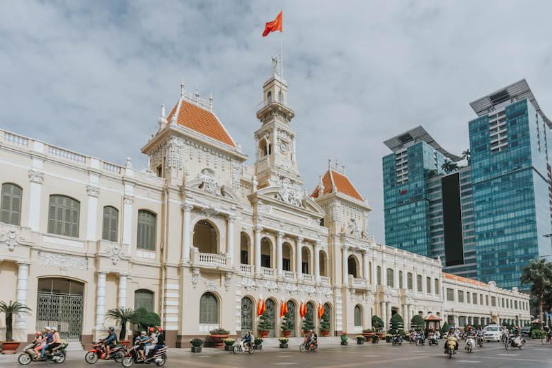 Rathaus Ho Chi Minh City Saigon Vietnam