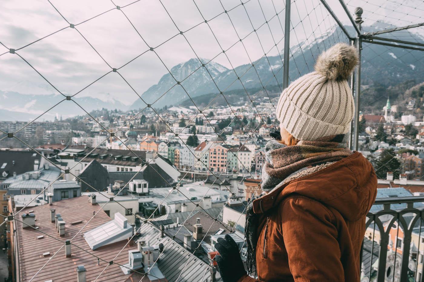 Innsbruck City Turm Ausblick Tirol