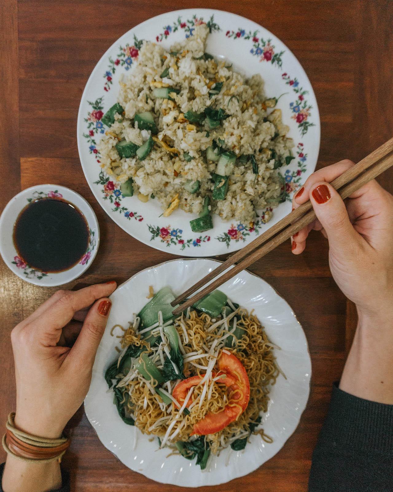 Vegetarisch essen in Vietnam Reisnudeln Food Guide