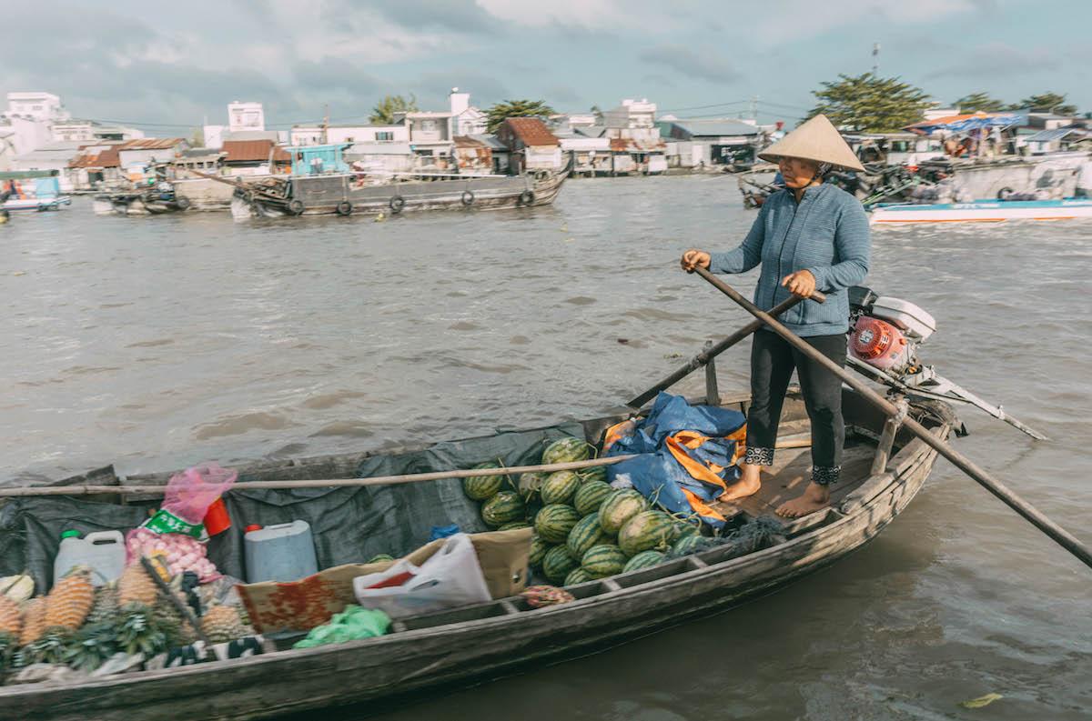 Mekong Delta Vietnam Cai Rang Floating Market