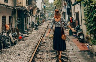 Hanoi Sehenswuerdigkeiten Bahngleise