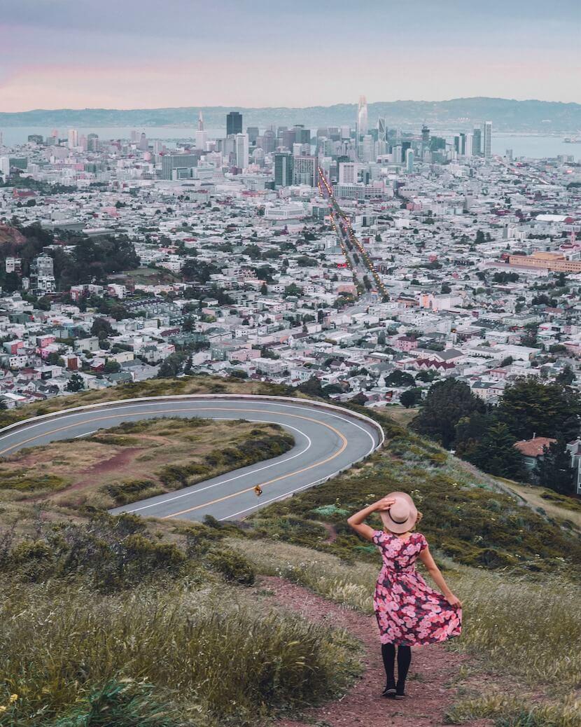 San Francisco Sehenswuerdigkeiten Twin Peaks