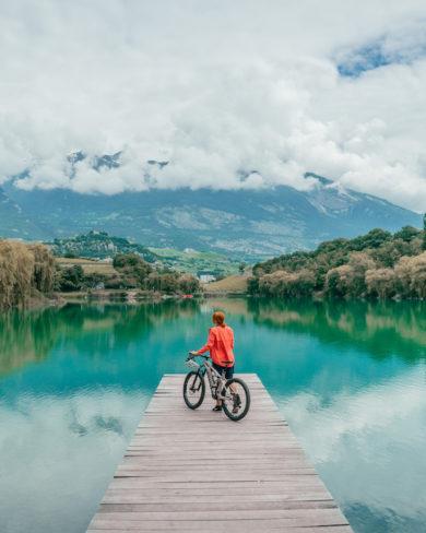 Wallis Lac de Geronde Schweiz