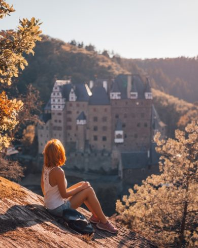 Burg Eltz Traumpfad Eltzer Burgpanorama