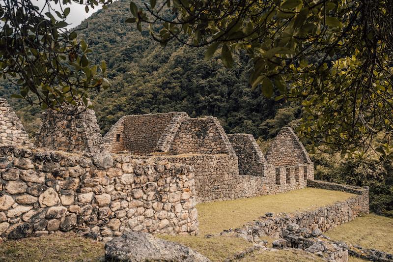 Inka Trail Chachabamba Ruinen