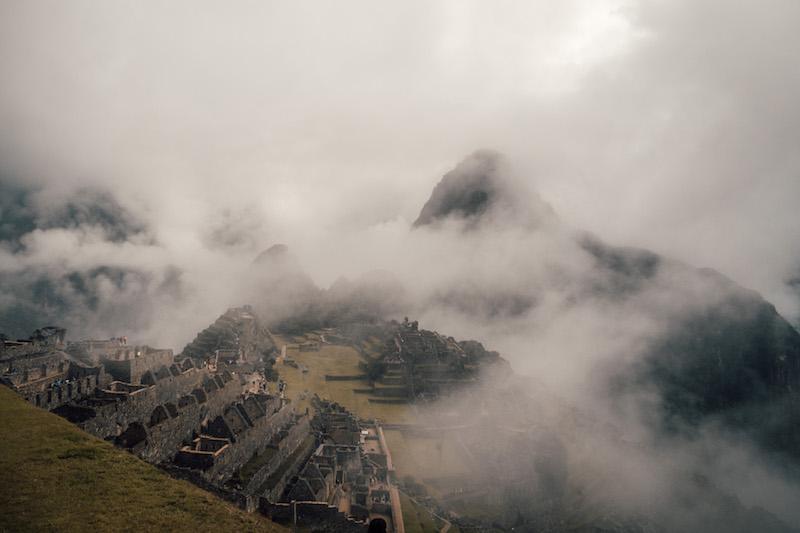 Machu Picchu Nebel