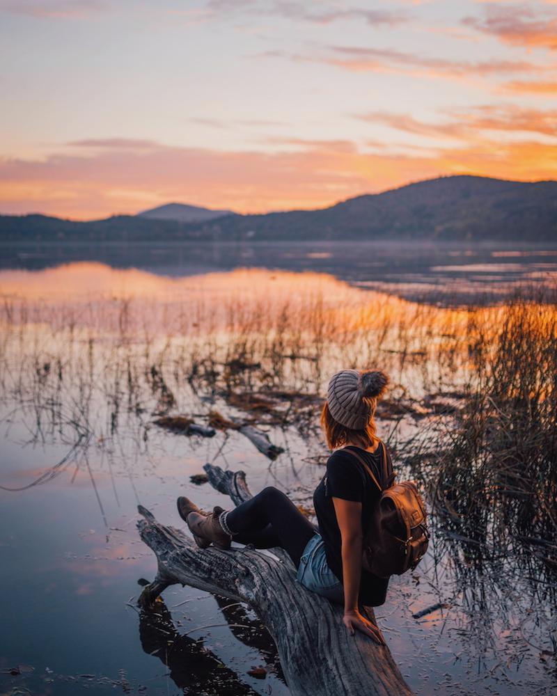 Sonnenuntergang Laacher See