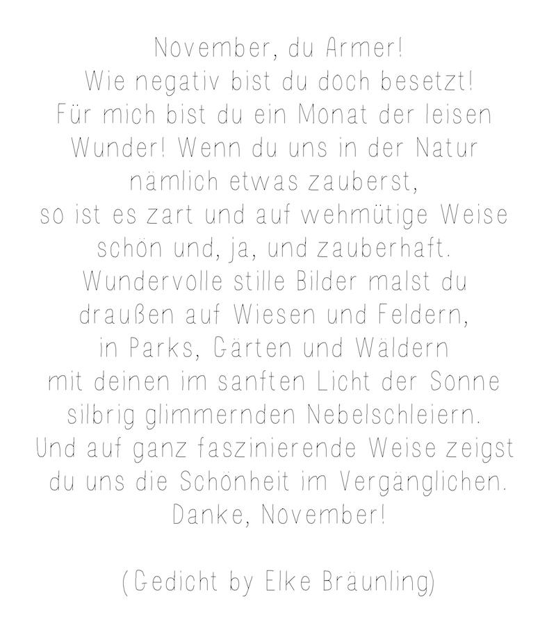 November Gedicht