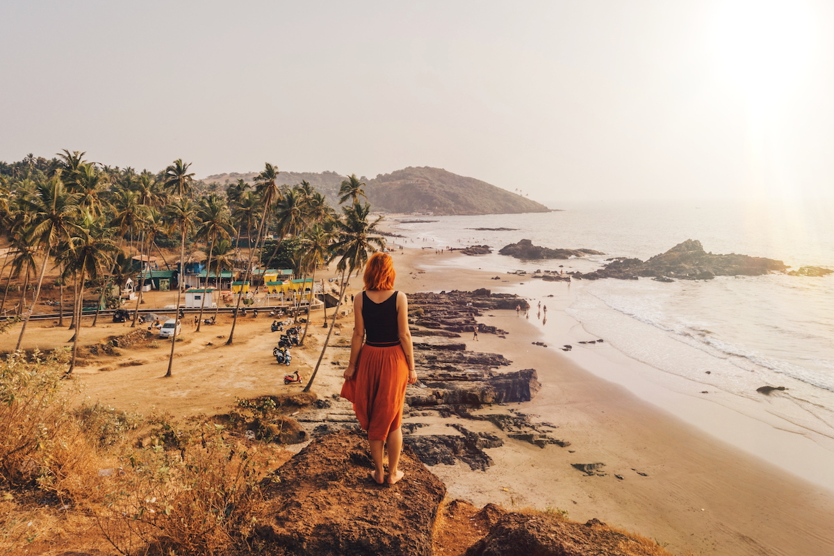 Arambol Goa Indien Vagator Beach