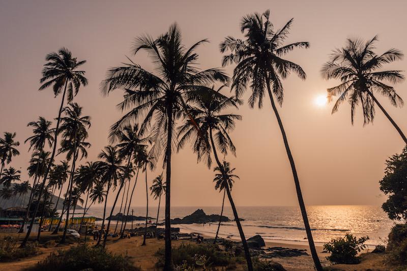 Goa Indien Vagator Beach