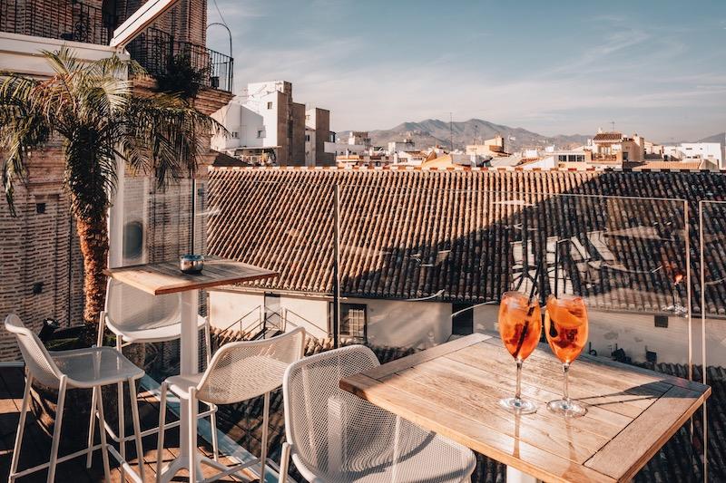 Malaga Sehenswuerdigkeiten Rooftop Bar