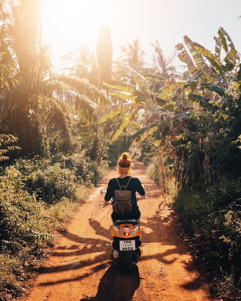 Koh Mak Rollerfahren Thailand
