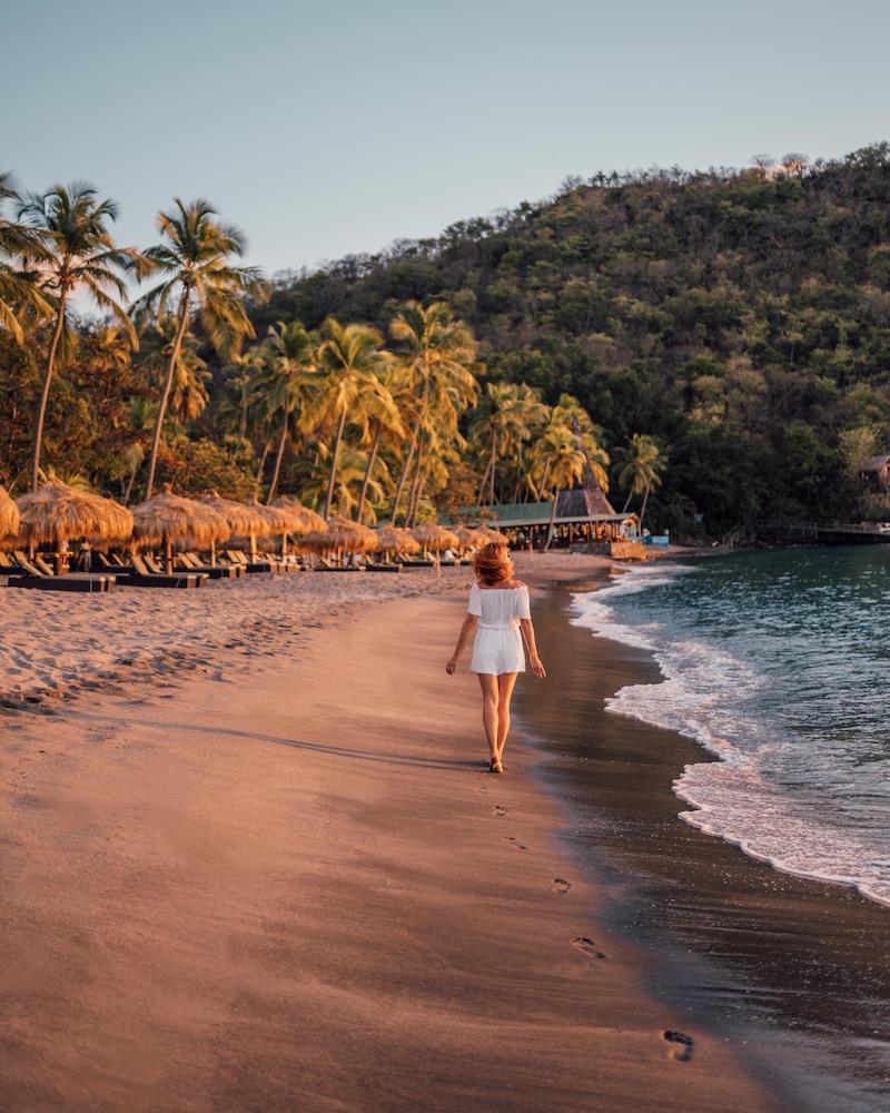 Saint Lucia Strand Anse Chastanet