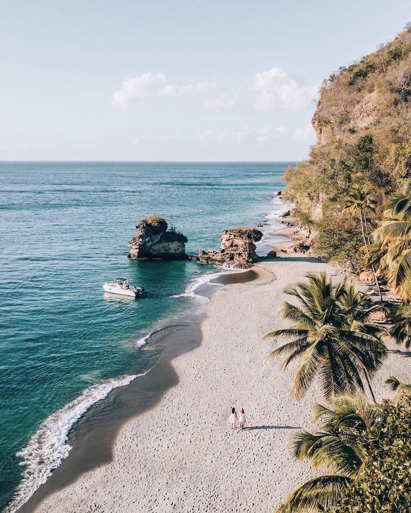 Saint Lucia Tipps Anse Mamin Beach