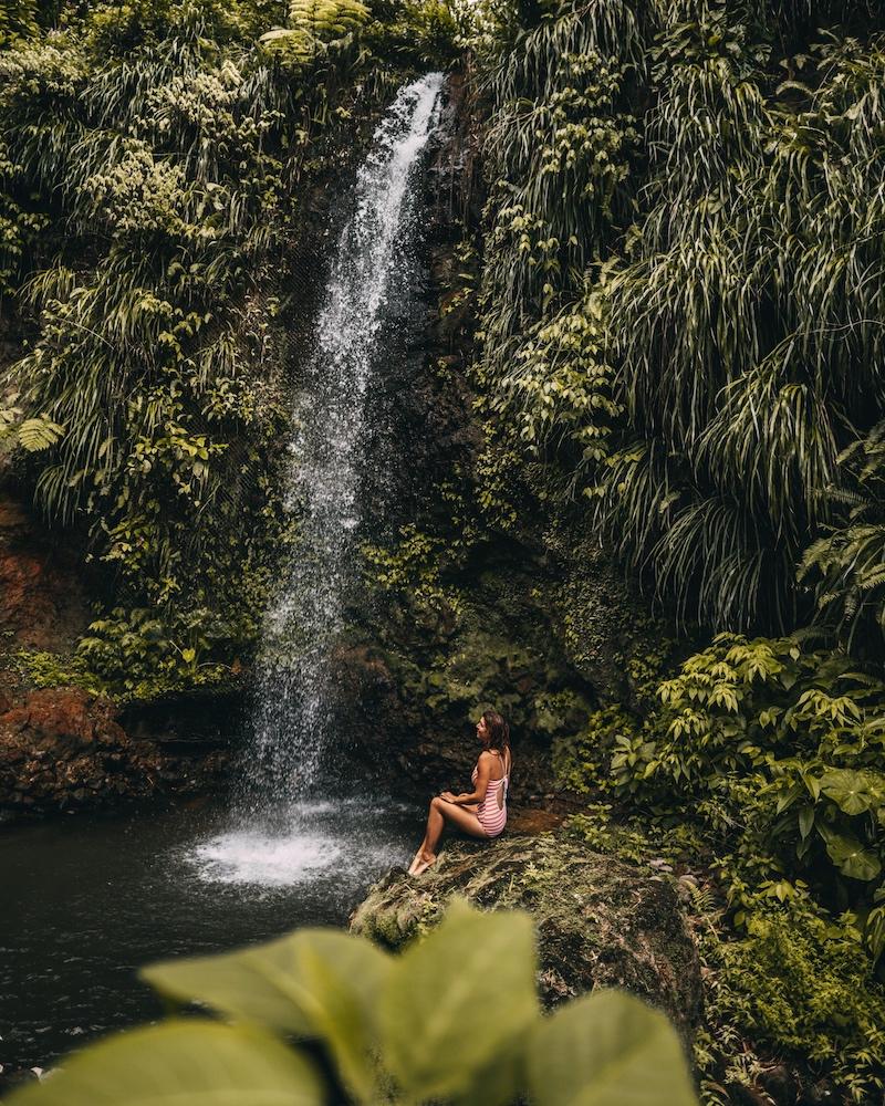 Saint Lucia Tipps Toraille Wasserfall
