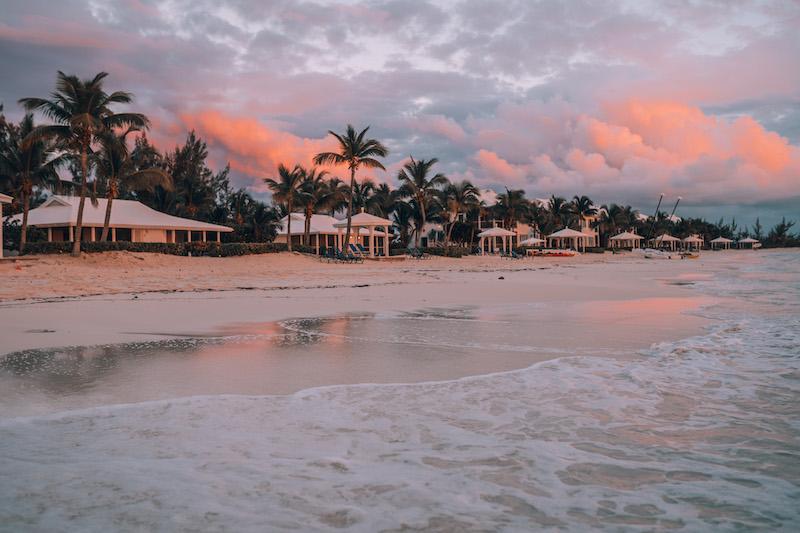 Long Island Bahamas Cape Santa Maria Sonnenuntergang