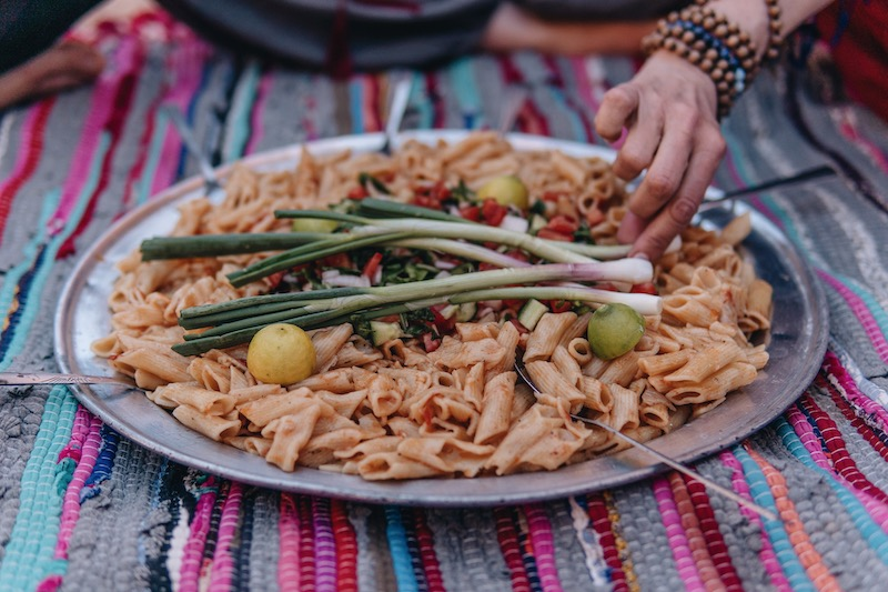 Wüstenreise Abendessen Wüste