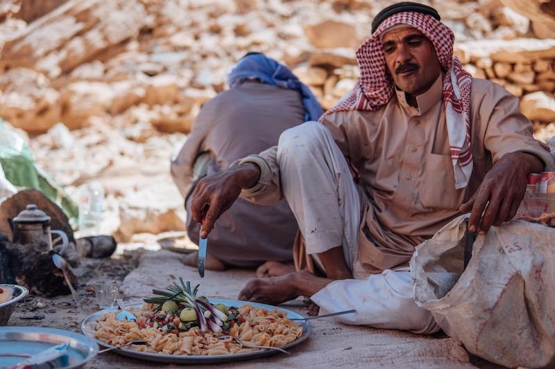 Essen in der Wüste