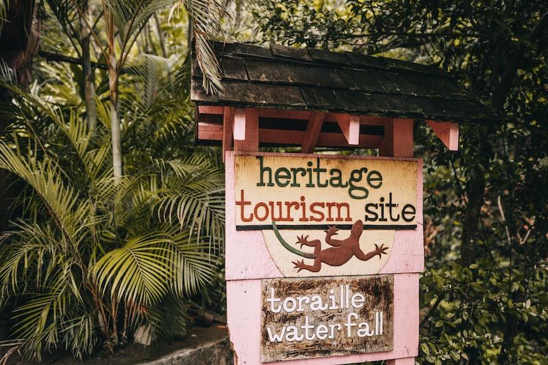 Saint Lucia Toraille Wasserfall