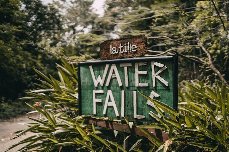 Saint Lucia Wasserfall Latille