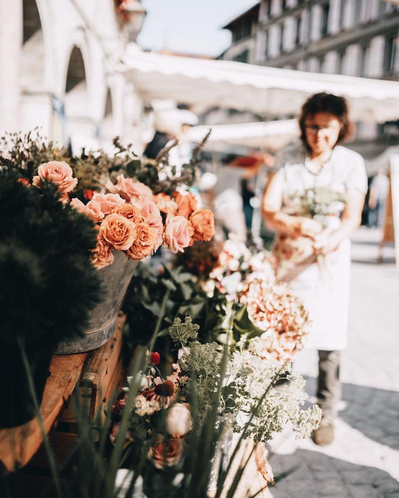 Lausanne Markt Blumen