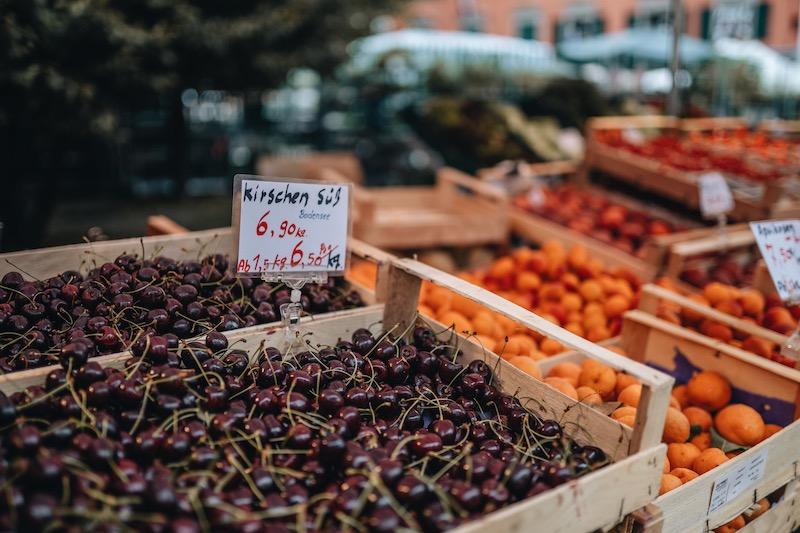 Bregenz Wochenmarkt Kornmarktplatz