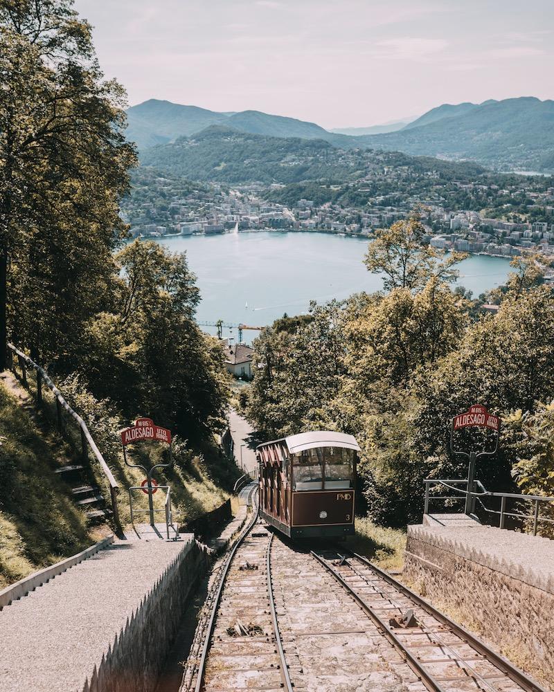 Lugano Bergbahn Monte Bre