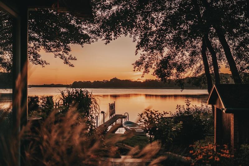 Mecklenburgische Seenplatte Sonnenaufgang