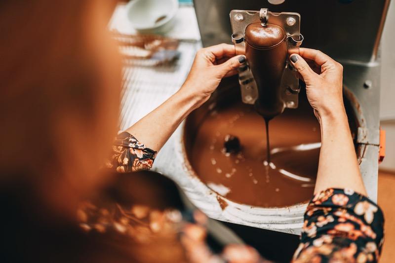 Ehingen Bierglas Schokolade