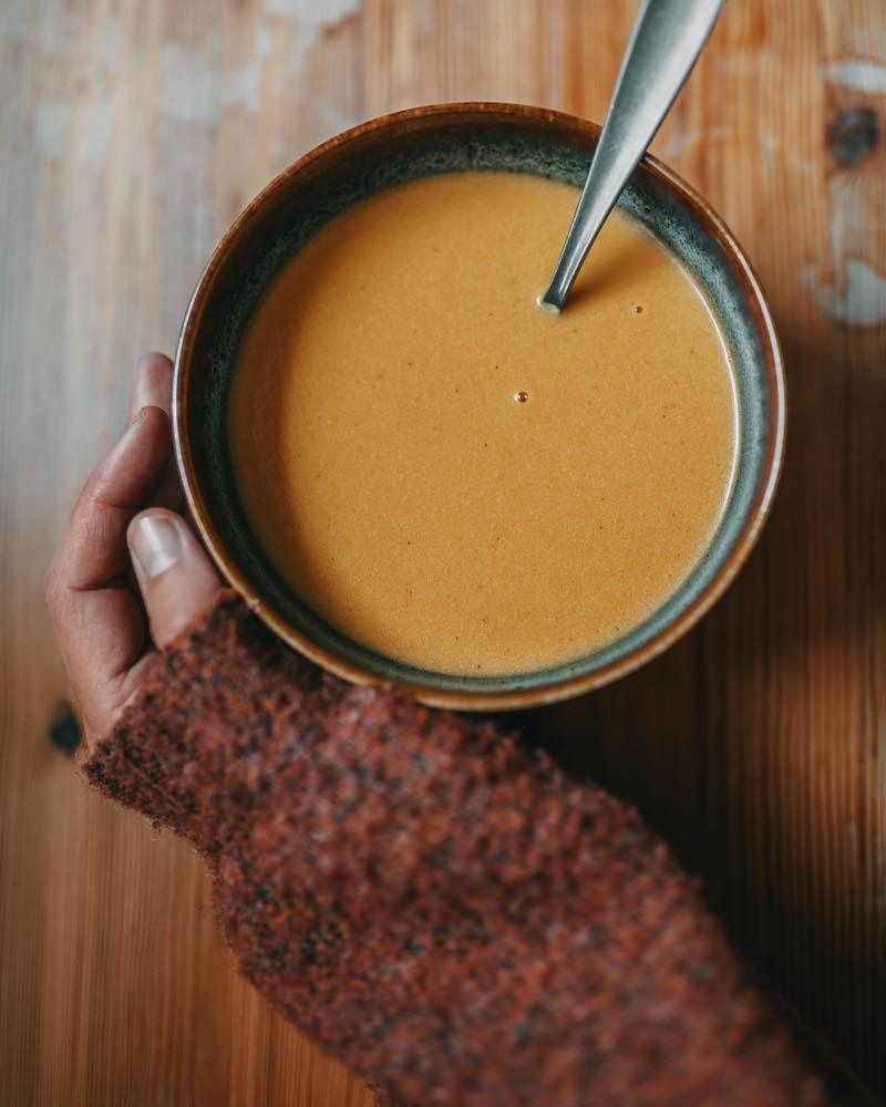 Herbst Kürbissuppe
