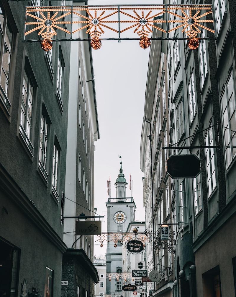 Salzburg im Winter Altstadt