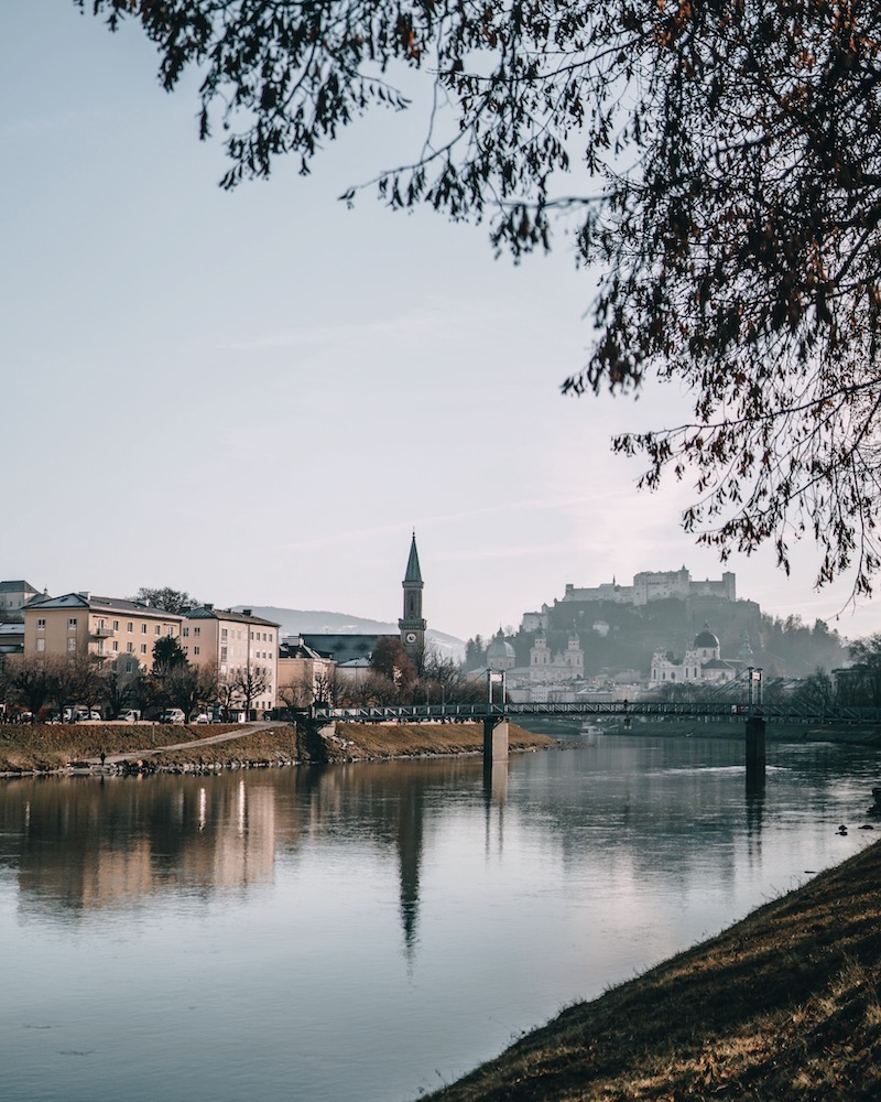 Salzburg im Winter Festung Hohensalzburg