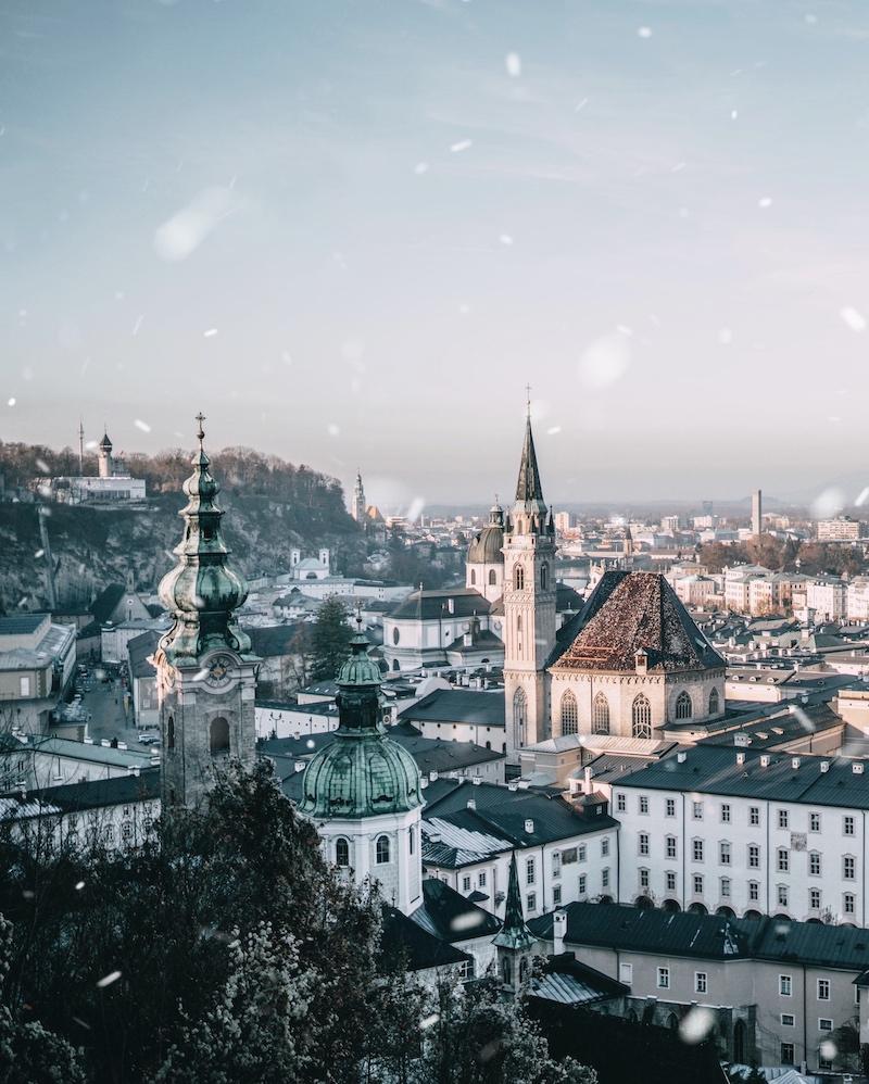 Salzburg Winter Dezember