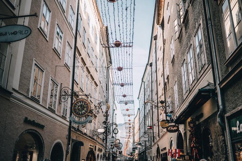 Vorweihnachtszeit Salzburg im Winter