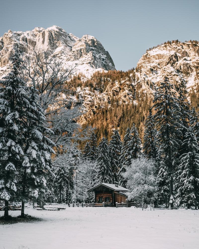 Berchtesgaden Winter Klausbachtal Hütte