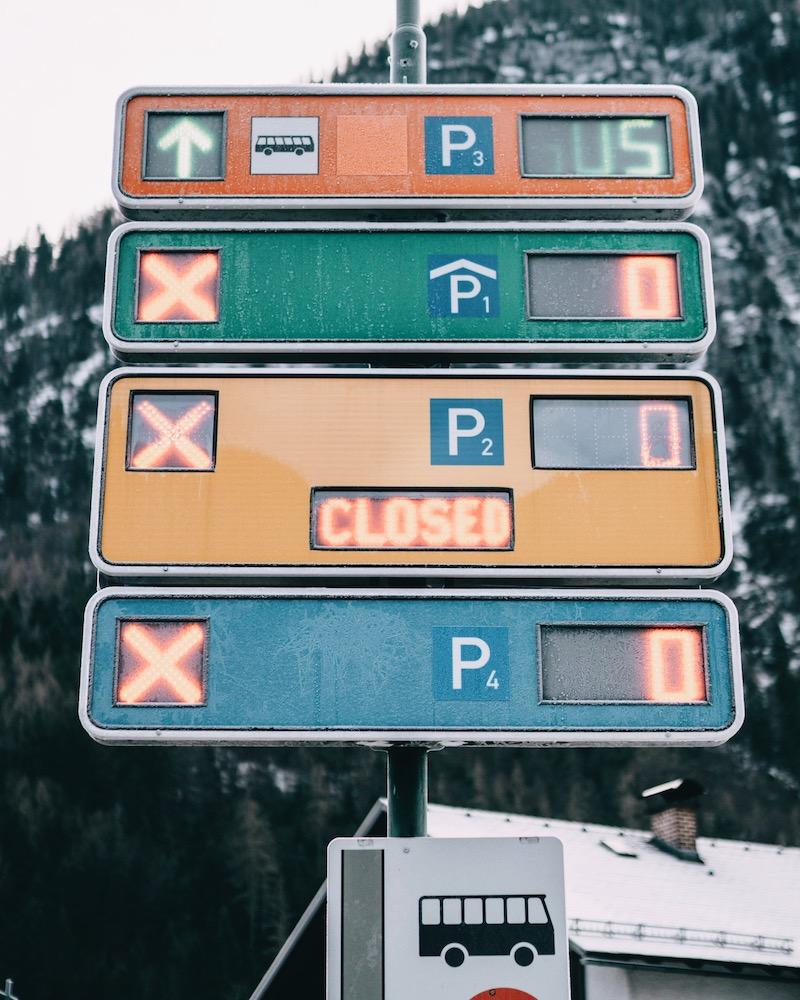 Hallstatt Massentourismus Parkplatz
