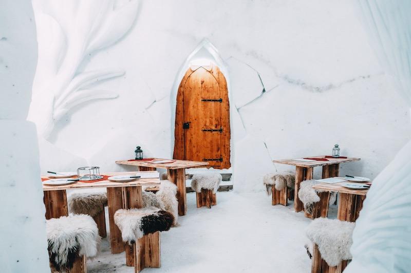 Iglu Übernachtung Restaurant