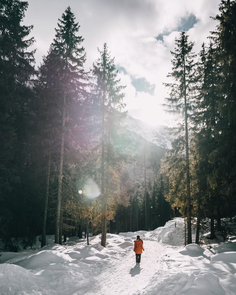 Kühtai wandern Winter