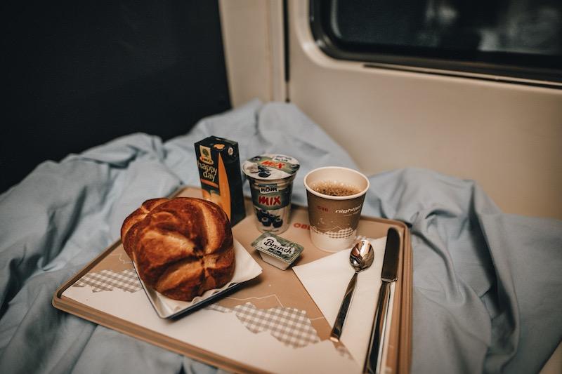 Nightjet Frühstück